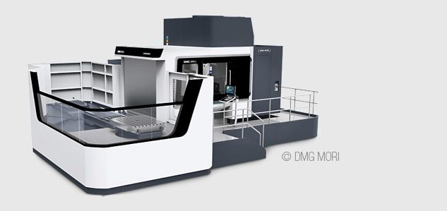 milling on DMC 210 U at tox pressotechnik